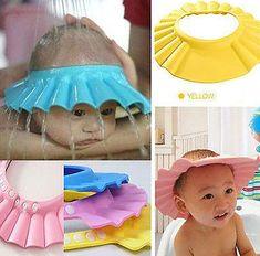 Safe Baby Child Shampoo Bathroom Shower Hat Cap Wash Hair Shield Supplies New FI