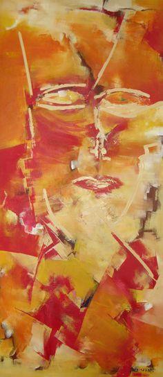 """""""El Acompañante III""""  - Paula Weiszkopf -  Acrílico 120 x 53 cm. www.esencialismo.com"""
