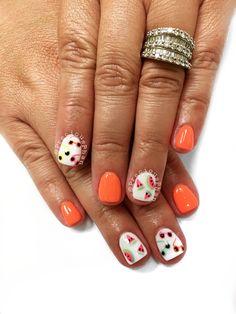 Sun glasses nails. Watermelon nails. Summer nails #PreciousPhan
