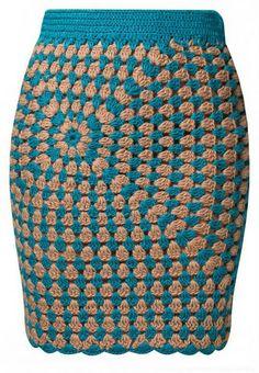 Falda enteriza Granny Patron - Patrones Crochet
