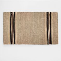 Image of the product Natural jute rug with black stripes