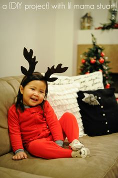 a {day} with lil mama stuart: How to Make DIY Reindeer Antlers