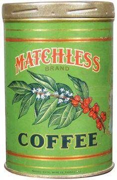 Rare Matchless Brand 1# Coffee Tin. Charles E. Moody  Co. Boston, Mass.
