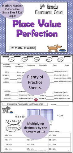 Multiplying and Dividing by Powers Of 10 Worksheet