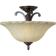 $154 - Maxim Lighting Allentown 3-Light Semi-Flush Mount