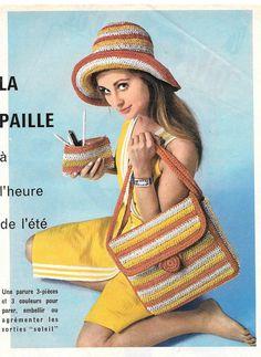 sac en raphia + capeline + pochette à faire soi-même