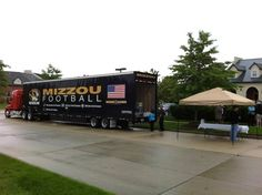 Mizzou - University of Missouri Tigers - equipment transporter for away football games