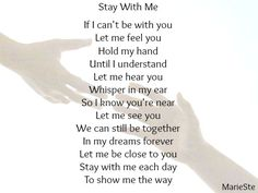 Stay With Me Artwork by MarieSte