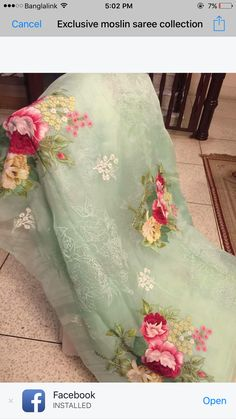 Embroidery on dupattas Organza Saree, Chiffon Saree, Saree Dress, Cotton Saree, Net Saree, Pakistani Dresses, Indian Sarees, Indian Dresses, Indian Outfits