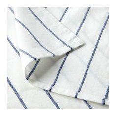 SOMMAR 2017 Bedspread, white, dark blue white/dark blue 98x98