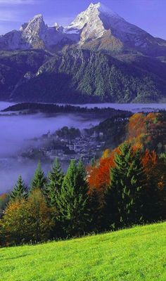 Berchtesgaden and Mount Watzmann in Bavaria, Germany