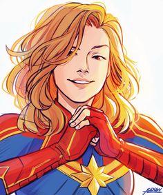Captain Marvel is amazing. Brie Larson is beautiful. Marvel Avengers, Hero Marvel, Marvel Girls, Marvel Memes, Spiderman Marvel, Marvel Fanart, Marvel Tumblr, Captain Marvel Carol Danvers, Draw