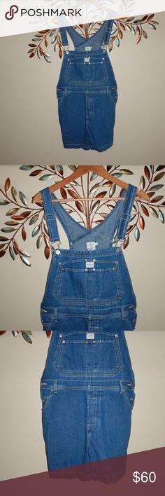"""CK Vintage Calvin Klein Overall Shorts Vintage 90's CK Calvin Klein Jeans Denim Overalls Shorts Carpenter Bib Size M Waist: 18"""" flat  Inseam: 5"""" Calvin Klein Shorts"""