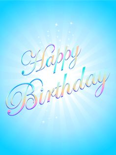 Shiny Blue Birthday eCard