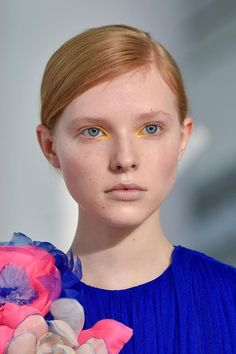 View all the photos of the beauty & make-up at the DELPOZO autumn (fall) / winter 2015 showing at New York fashion week. Read the article to see the full gallery.