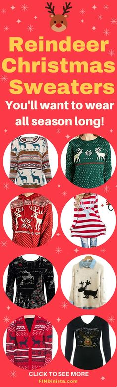 0ee922a0a82 229 Best Cute Christmas Sweaters for Women images
