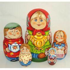 """Miss """" Im Having Tea"""" #Babushka #russiandoll #matryoshka #dollsindolls #decor #traditional"""