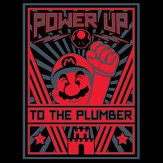 PLUMBER PROPAGANDA T-Shirt $10 Super Mario Bros tee at ShirtPunch today only!