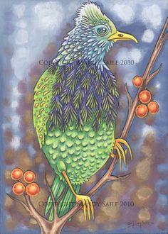Beautiful Bird 11 PRINT by BijousWhimsy on Etsy
