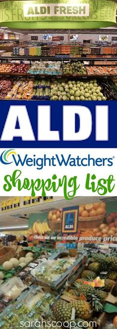 Weight Watchers Aldi's Shopping Guide with Points - Sarah Scoop