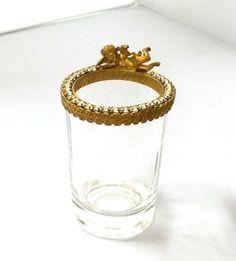 Cherub and Rhinestone Rimmed Glass Vanity / by TrendyTreasures1
