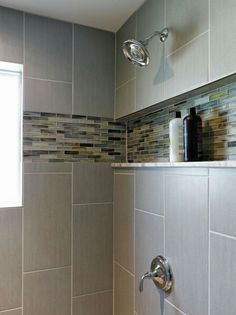 Charmant Love The In Set Shelf For A New Shower Morris House   Midcentury   Bathroom    Baltimore