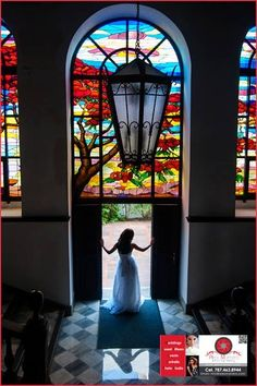 The bride in the door.