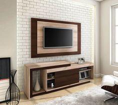 Os racks podem ser utilizados sozinhos ou acompanhados de painéis fazendo toda a diferença na sala de estar.