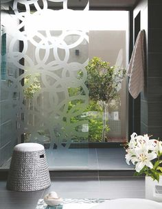 Gauteng, South Africa bathroom opens into private courtyard