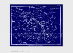 Customizable Vintage Constellation Star Map, You Choose the Colors, Minimalist Wall Art Unframed Sky Star Map in Custom Colors on Etsy, $10.00