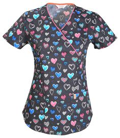 e97f429ae41 Code Happy : True To Your Heart Print Scrub Top For Women Uniform Outlet,  Uniform