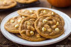 White Chocolate Pumpkin Pudding Cookies