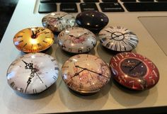 Clock Magnets Set of 8 by TRAprettythings on Etsy