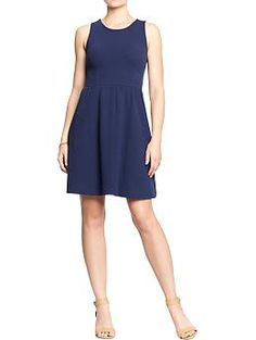 Women's Sleeveless Ponte-Knit Dresses | Old Navy