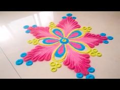 Trendy Creative Art Projects For Teens Beautiful Ideas Free Hand Rangoli Design, Small Rangoli Design, Colorful Rangoli Designs, Rangoli Designs Diwali, Beautiful Rangoli Designs, Diwali Rangoli, Rangoli Borders, Rangoli Patterns, Rangoli Ideas