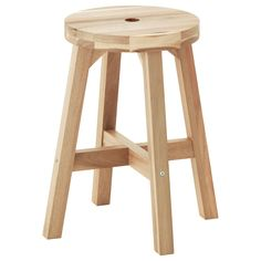 IKEA - SKOGSTA, Stool, Solid wood is a durable natural material.