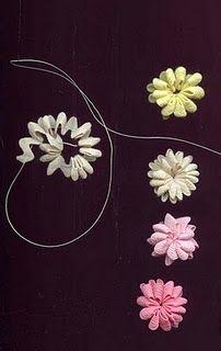. rickrack flower, rac flower, oldies but goodies, ric rac, flower tutorial, flowers, rick rack, flower hair, ribbon flower