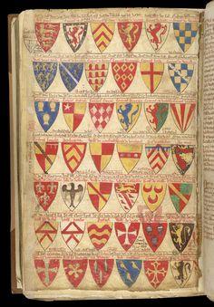 Heraldic Shields, In Matthew Paris's 'Book Of Additions'