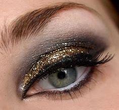 smokey metallic eye.