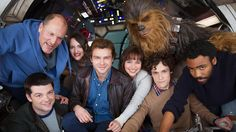 "The force is strong with the cast of the still-untitled ""Star Wars"" Han Solo spinoff. Disney released the first photo of the cast on Tuesday morning while announcing that principal photography officially began on the film on Monday at London's Pinewood Studios. ""Han Solo – Smuggler. Scoundrel. Hero. A new Star Wars Story begins,"" the"