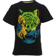 Bardot Junior Boys Graphic Tiger Tee ($27) ❤ liked on Polyvore featuring baby boy and black