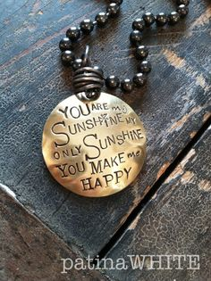 you are my SUNSHINE necklace ... patinaWHITE by patinaWHITE