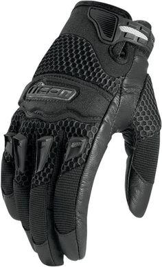 Icon Twenty-Niner Motorcycle Gloves Women's Black S Small $35