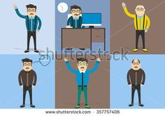 Vector set characters of man. Man suitable for time management business concept. A contemporary style with pastel palette.Vector flat design .cute cartoon character.cute cartoon character.