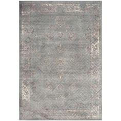 Safavieh Vintage Grey/ Multi Viscose Rug (8'10 x 12'2)