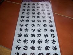 Lots oF Paw Prints Stickers