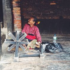 #Kathmandu: A #local woman makes clothes with #traditional techniques you don't often see these days. Photo taken by @aalutamaa. #localculture #comissionculture #Nepal
