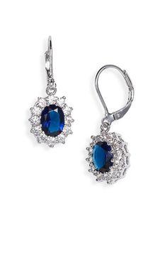 insipred saphire drop earrings