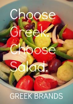 This season, go Greek & healthy. Try a Greek salad! Healthy & refreshing, perfect for a light lunch.