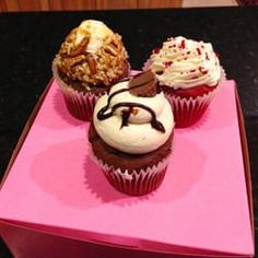 Photo of Cupcake Factory - Little Rock, AR, United States. Turtle, Red Velvet, PB